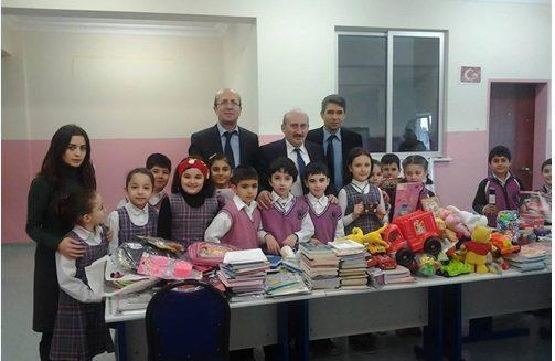 kardeş okul - Bağcılar'dan Mahmutlar'a eğitim yardımı