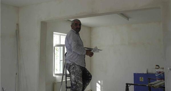 İlçe Müdürlüğü binasında onarım yapıldı