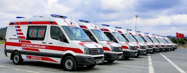 20 ile 80 ambulans dağıtıldı
