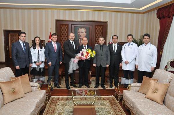 Sağlıkçılar, Vali Kolat'ı ziyaret etti