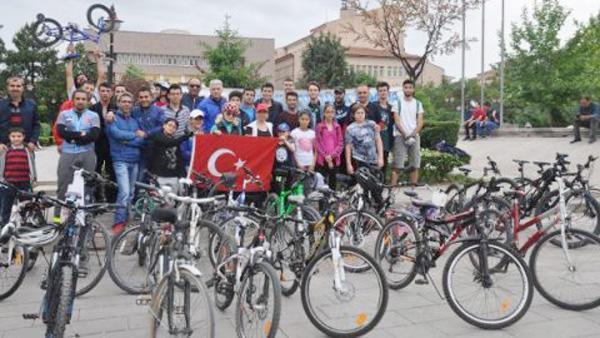 Bisiklet topluluğu kenetlendi
