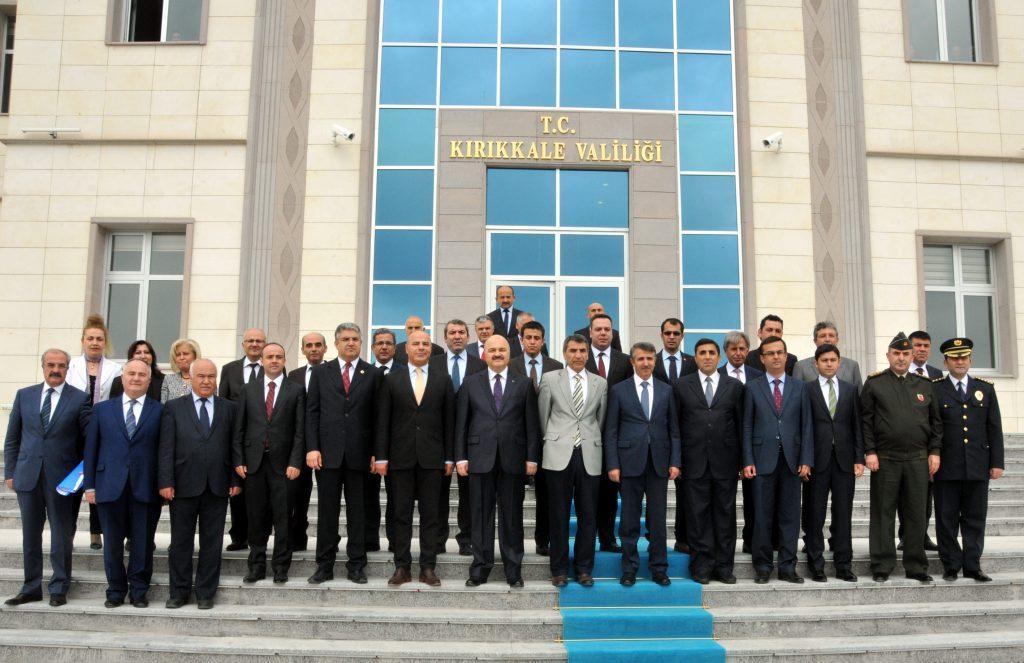 Kırıkkale Vali Vekili olarak görevlendirilen Mükerrem Ünlüer, görevine başladı. ( Fatih Gökmen - Anadolu Ajansı )