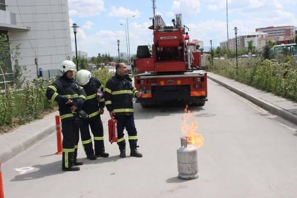 YİH'de Yangın Tatbikatı
