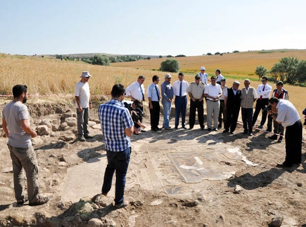 Buğday tarlasında Roma mozaiği