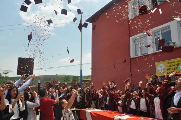 Sulakyurt'ta mezuniyet heyecanı