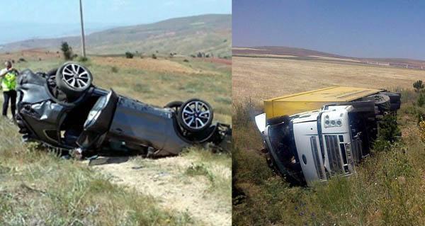 Kayseri yolunda iki trafik kazası 5 yaralı