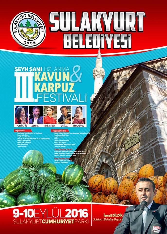 SULAKYURT FESTİVAL YAPACAK