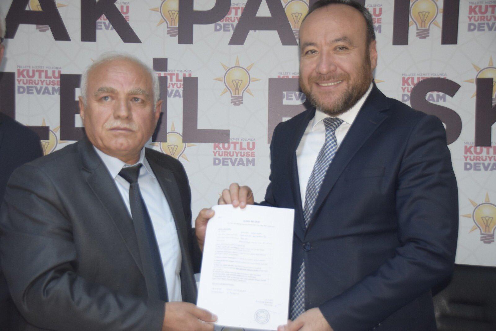Enver Çengel Hacılar Belediye Başkan Aday Adaylığı İçin Ak Parti'den Başvurusunu Yaptı