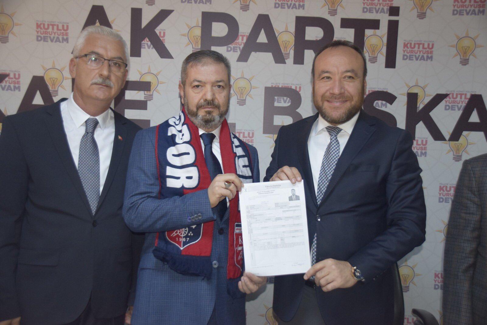 Ertan Taşkın Kırıkkale Belediye Başkan Aday Adaylığı İçin Ak Parti'den Başvurusunu Yaptı