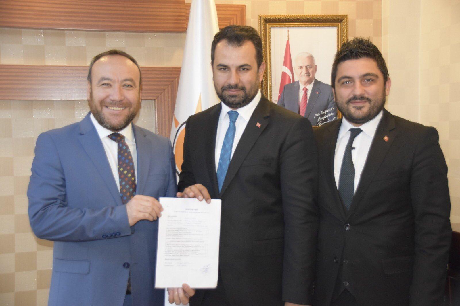 Fatih Çidem Yahşihan Belediye Başkan Aday Adaylığı İçin Ak Parti'den Başvurusunu Yaptı
