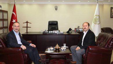 Ak Parti Kırıkkale Milletvekili Ramazan Can, Belediye başkanı Mehmet Saygılı'yı makamında ziyaret etti.