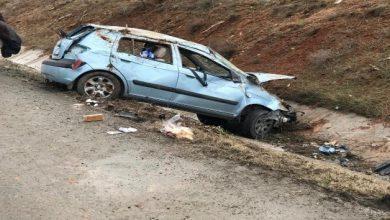 Kırıkkale'de Kıbrıs gazisi otomobiliyle metrelerce takla atarak su kanalına düştü.