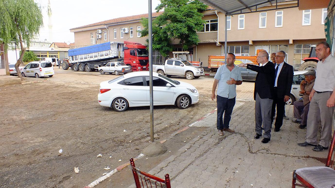 TSO Başkanı Varlı'dan selden zarar gören esnaflara ziyaret 1 - TSO Başkanı Varlı'dan selden zarar gören esnaflara ziyaret