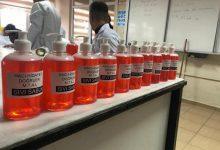 Photo of Öğrenciler sıvı sabun ve kolonya üretti