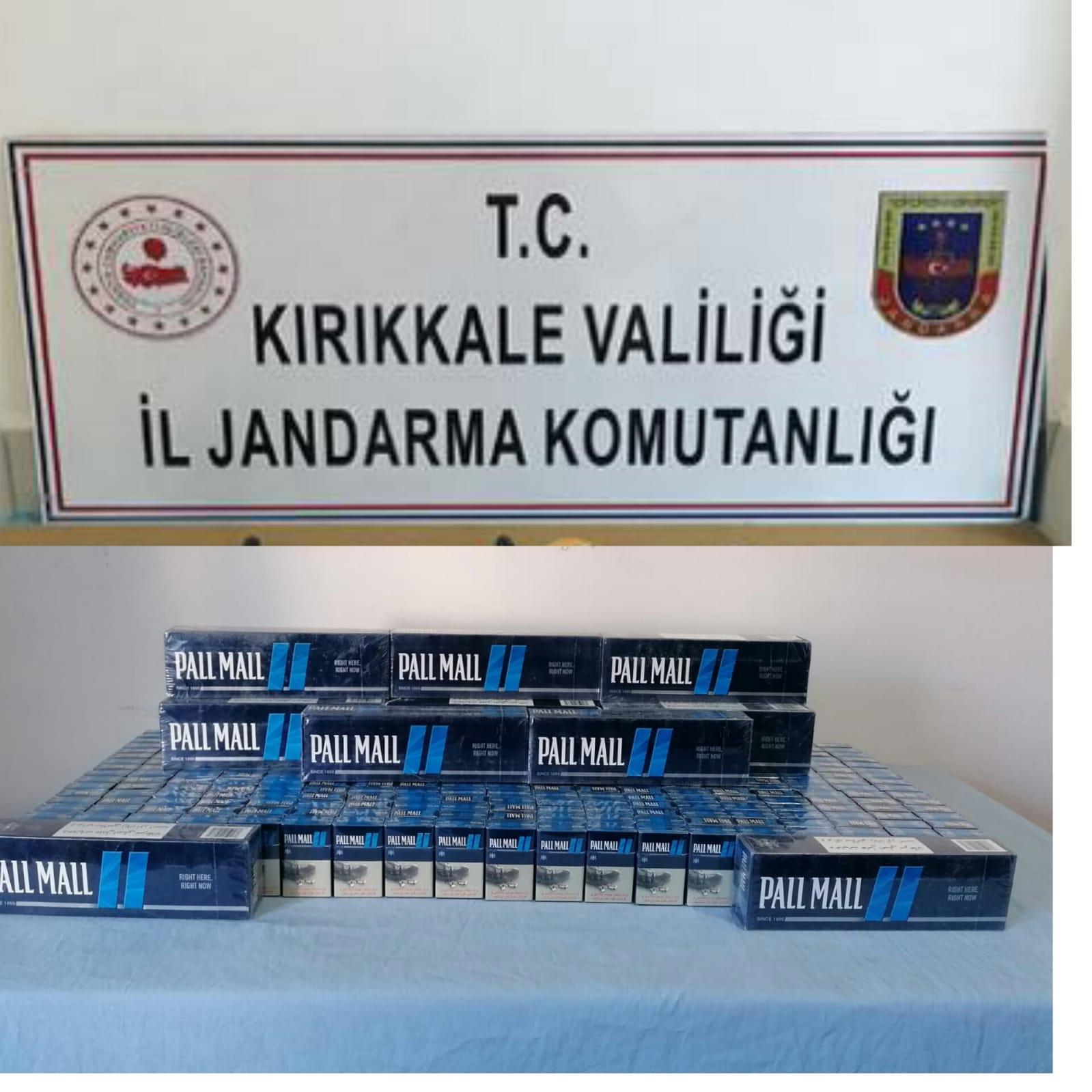 Jandarmadan Kırıkkale'de kaçak sigara operasyonu