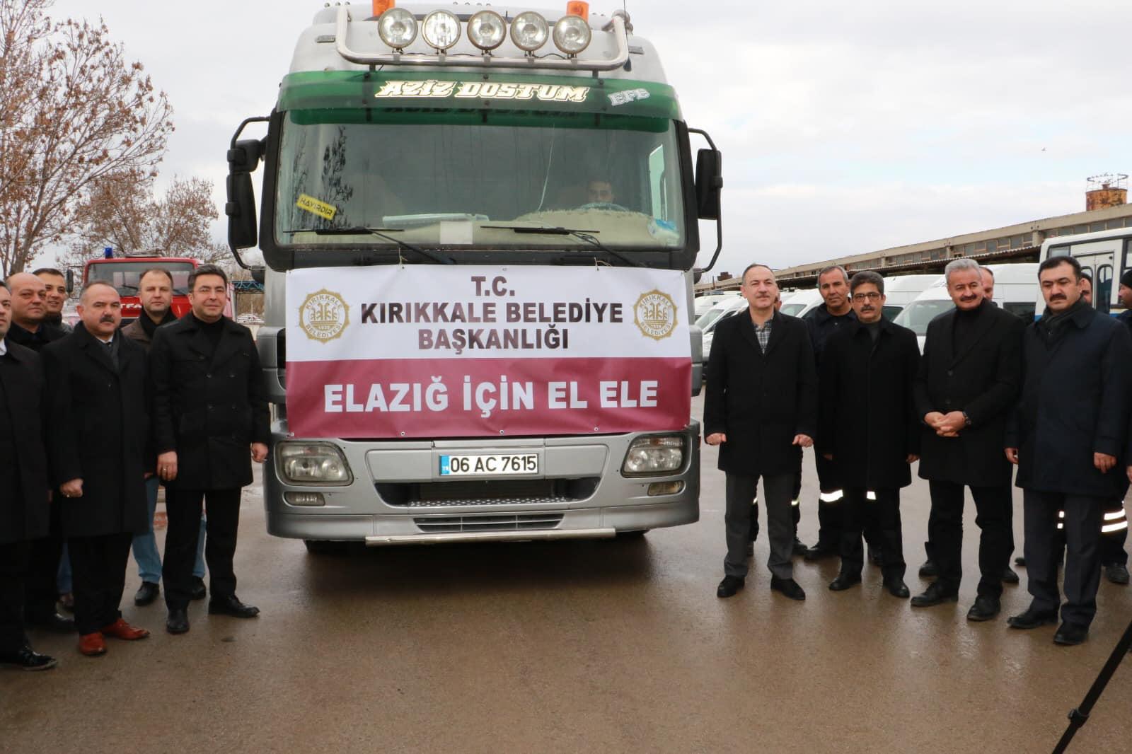 Kırıkkale'den Elazığ'a yardım eli