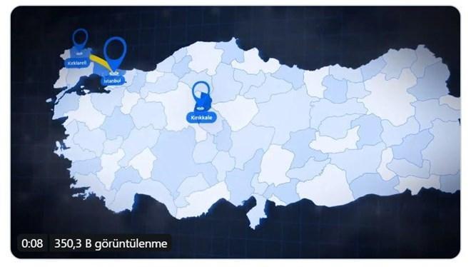 Fenerbahçe, Kırıkkale'nin yerini haritadan gösterdi