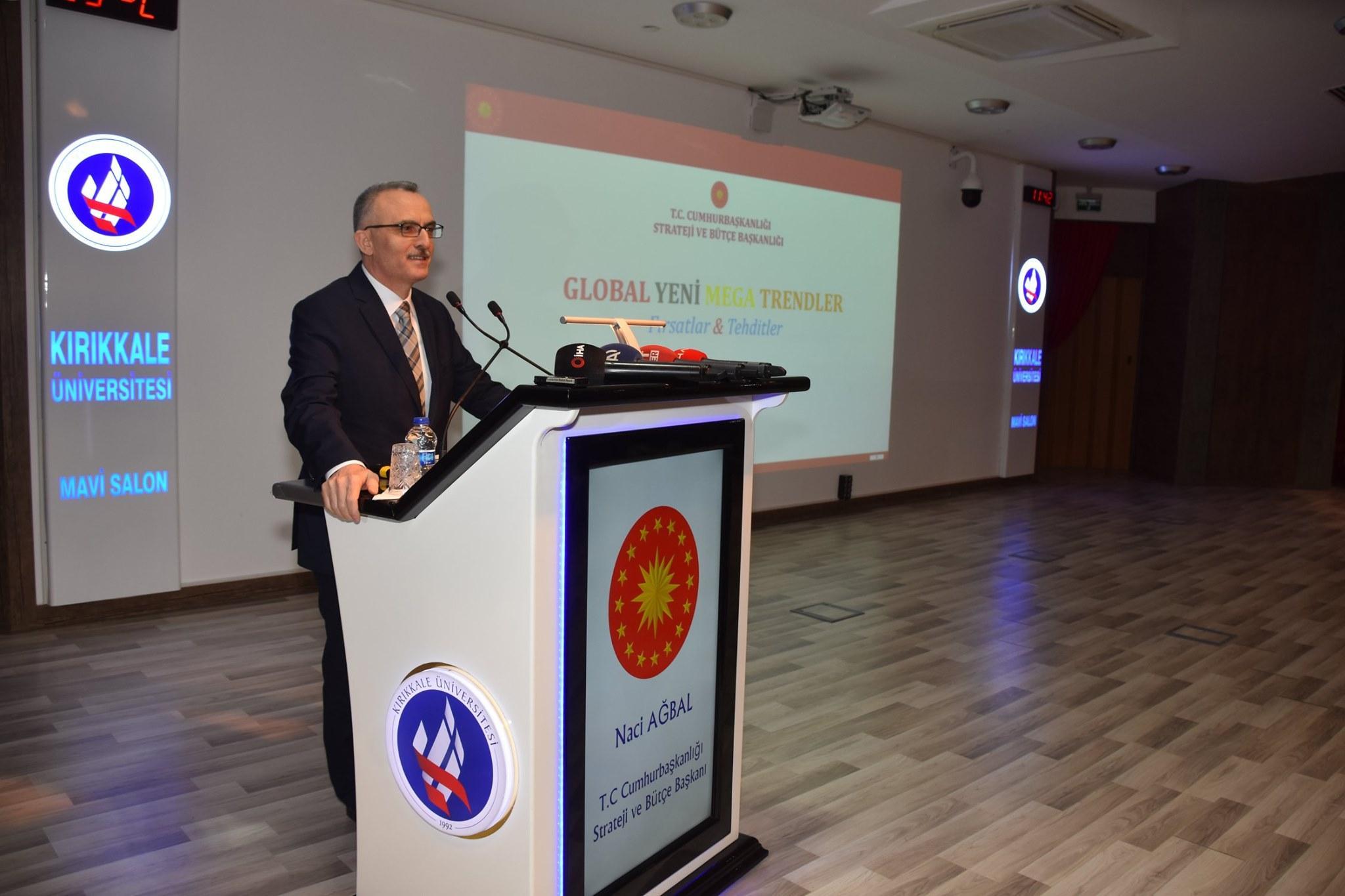 Ağbal, Kırıkkale Üniversitesi'nde Konferans Verdi