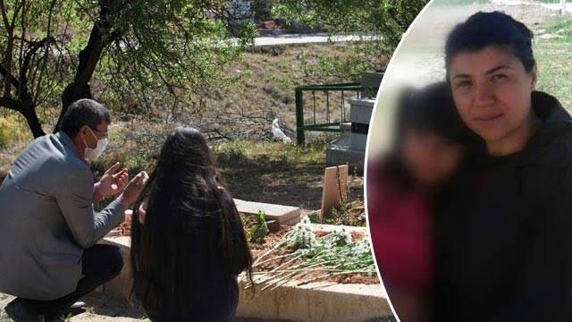 561605E3 2C03 4AB9 BCB7 CE77B7183E14 - Emine Bulut'un kızı, annesinin mezarını ziyaret etti