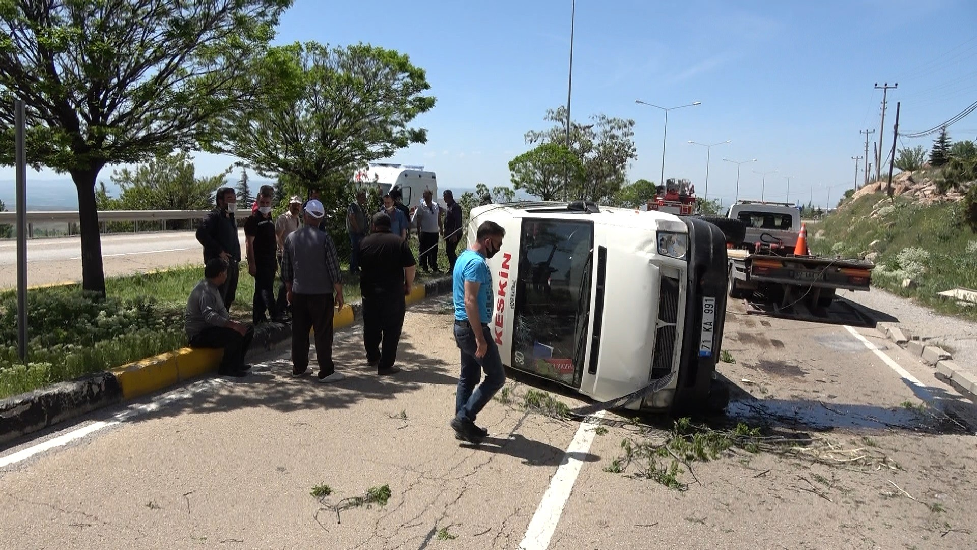 AW016480 01 - Keskin- Kırıkkale Minibüsü Kaza Yaptı