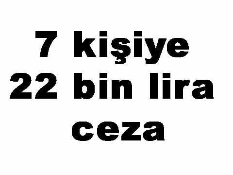 krıkkale ceza - 7 kişiye 22 bin lira ceza