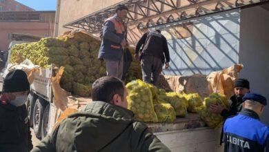 Keskin Belediyesi Patates Dağıttı