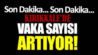 Kırıkkale'de Vaka Sayıları Arttı